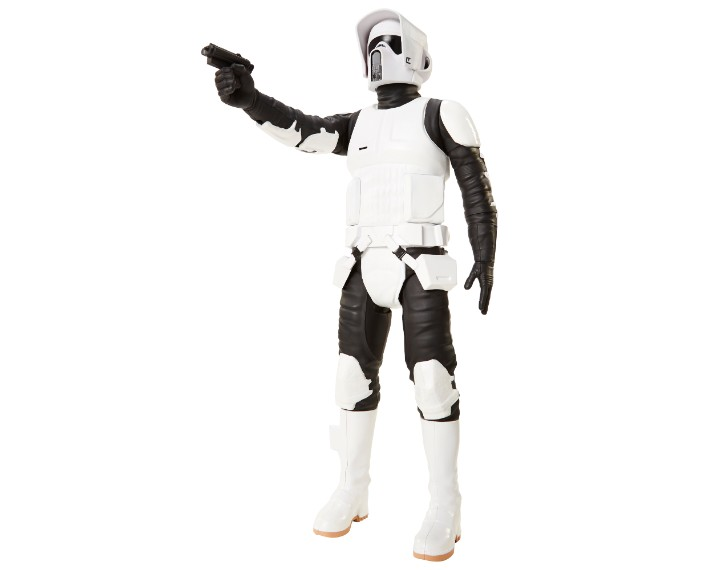 , 79430ABF SW 18in Scout Trooper 02 Copy, משחקים לילדים מלחמת הכוכבים, משחקי רובוטים, משחקי חברה, משחקי בנים starwars