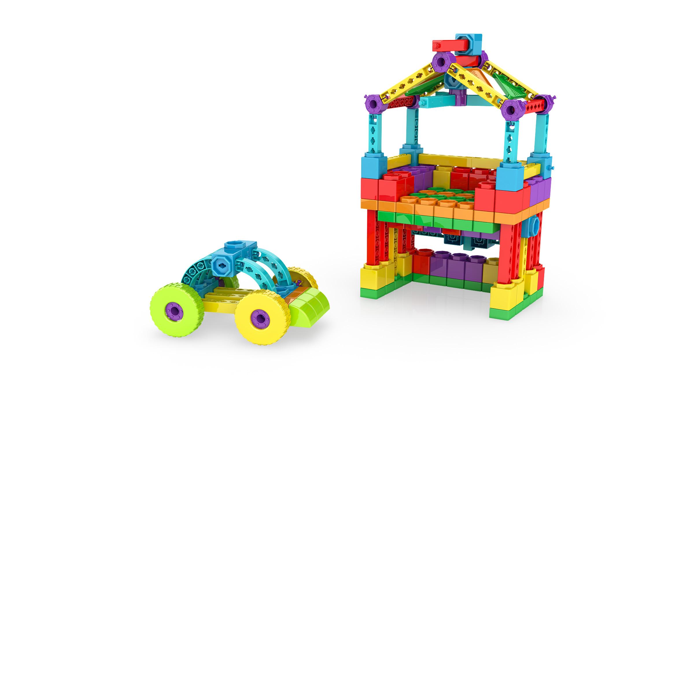 , CarAndHouse, משחקי חשיבה לילדים engino, משחקים לגיל הרך playgro, משחק הרכבות אנג'ינו, משחקי רכבות