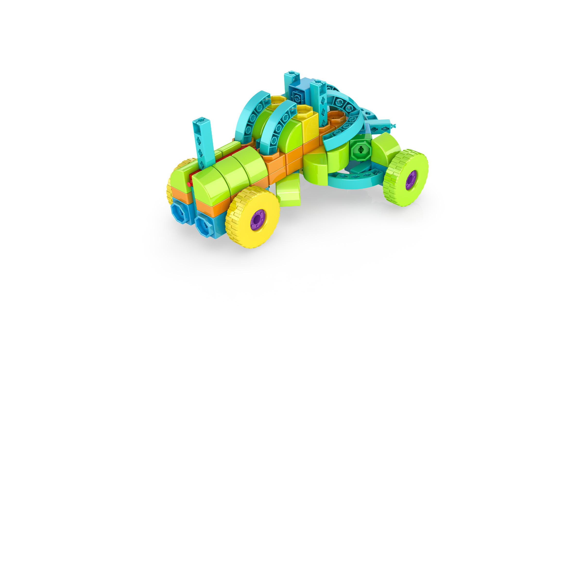 , FunnyDragsterTracktor, משחקי חשיבה לילדים engino, משחקים לגיל הרך playgro, משחק הרכבות אנג'ינו, משחקי רכבות