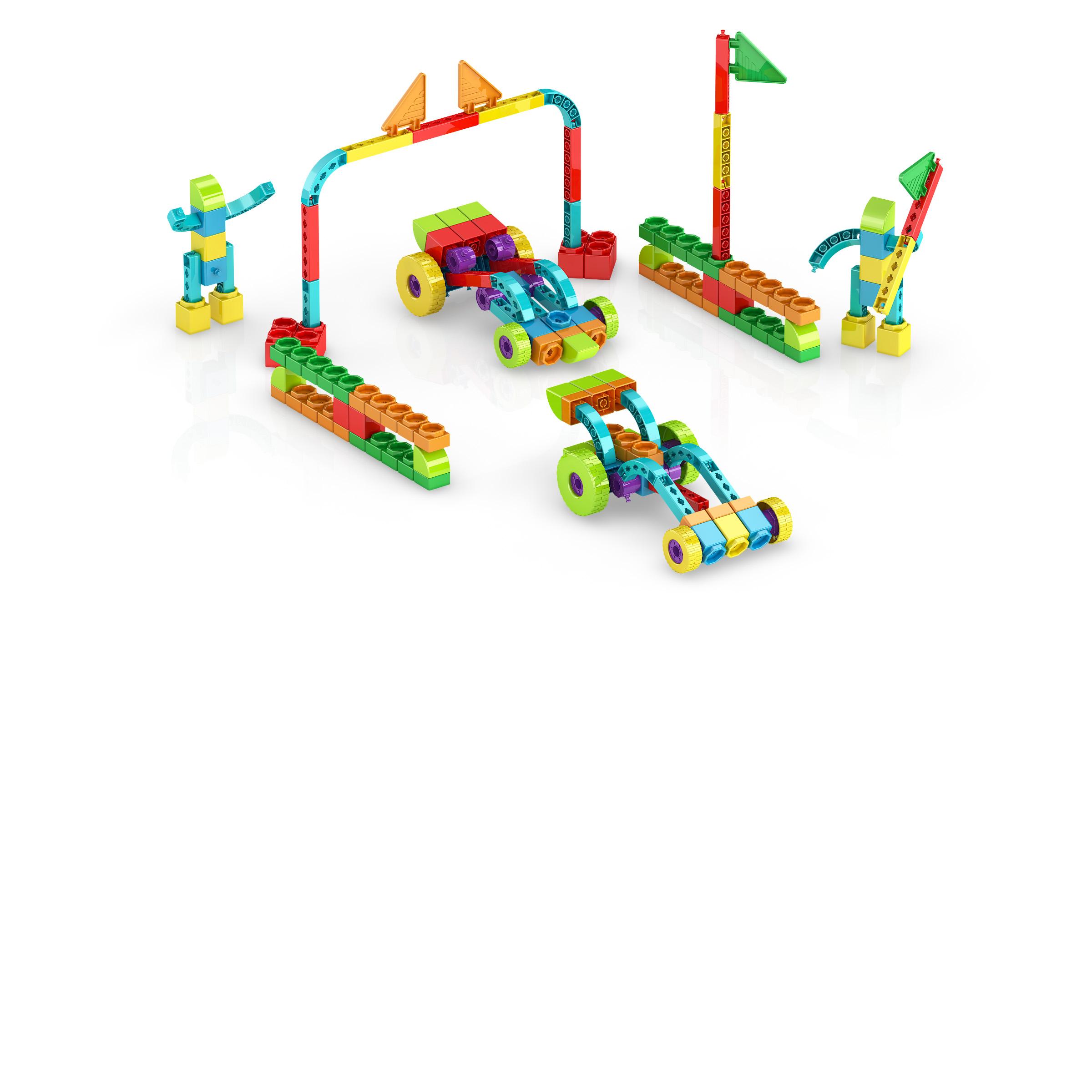, RaceTrack 1, משחקי חשיבה לילדים engino, משחקים לגיל הרך playgro, משחק הרכבות אנג'ינו, משחקי רכבות