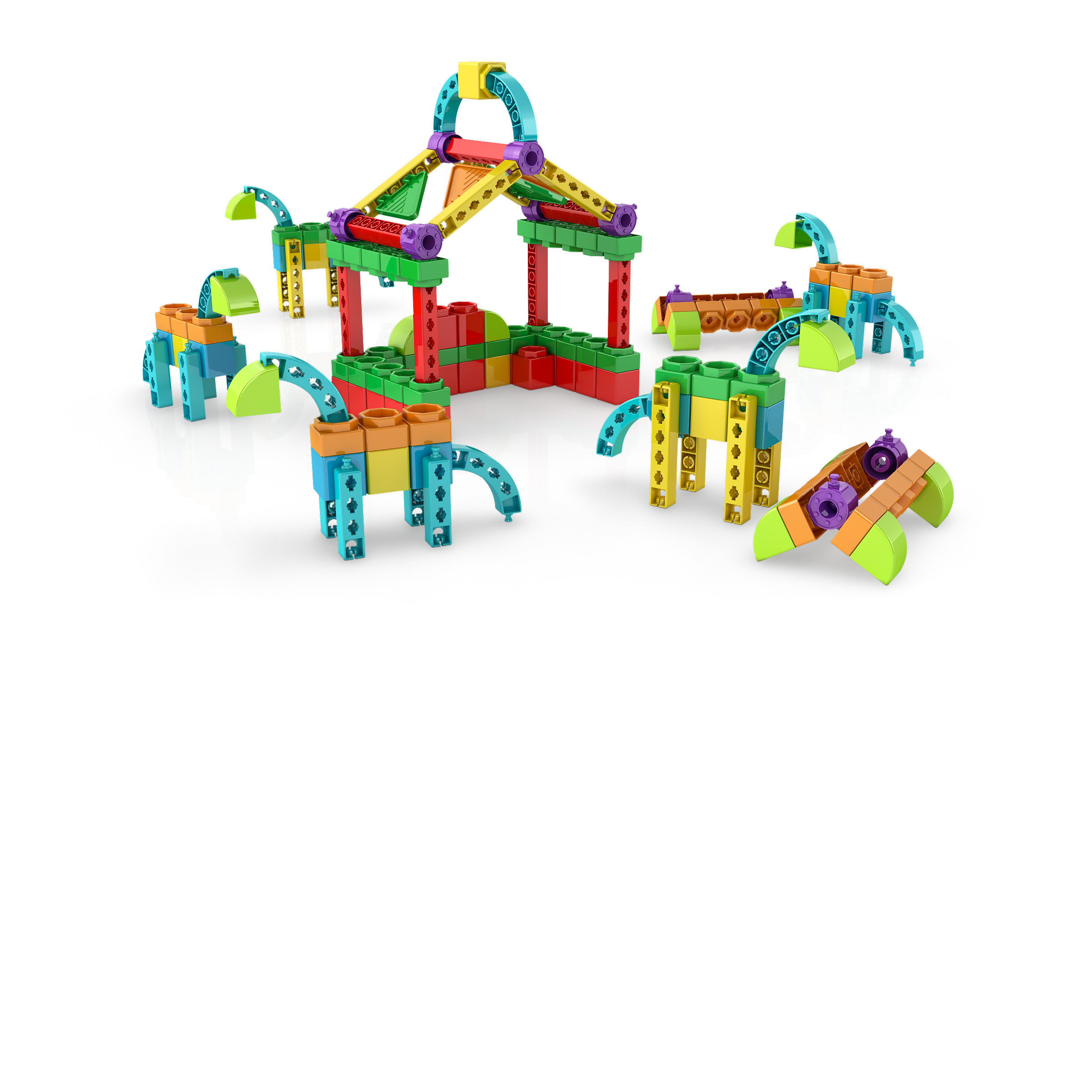 , farm 1, משחקי חשיבה לילדים engino, משחקים לגיל הרך playgro, משחק הרכבות אנג'ינו, משחקי רכבות